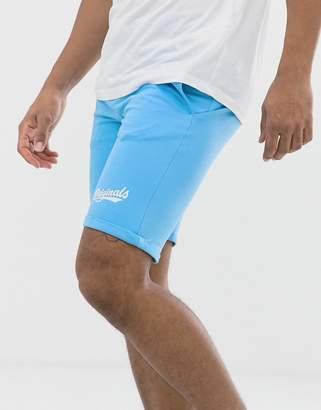 Jack and Jones jog sweat shorts-Blue