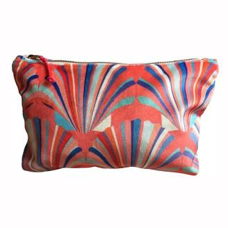 Chloe Croft London Limited Luxury Coral Velvet Cosmetic Bag