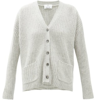 Allude Ribbed Cashmere Cardigan - Womens - Light Grey