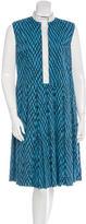 Marni Geometric Print Pleated Dress