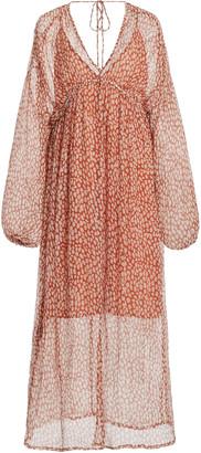 CLOE CASSANDRO Iman Crinkled Silk Dress