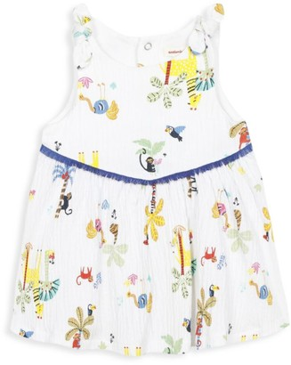 Catimini Baby Girl's Fringed Print Dress