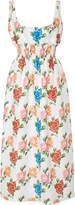 Emilia Wickstead Giovanna Floral-Print Crepe Dress