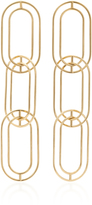 Sarah & Sebastian Large 9K Gold Link Earrings