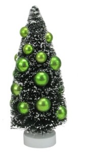 "Northlight 8.5"" Green Sisal Christmas Tree with Ornaments Table Top Decoration"