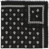 Versace Medusa pattern scarf - men - Silk/Modal - One Size