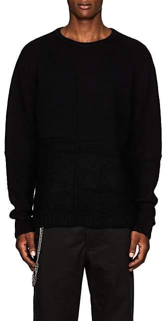 Chapter MEN'S MIXED-KNIT WOOL SWEATER - BLACK SIZE XS