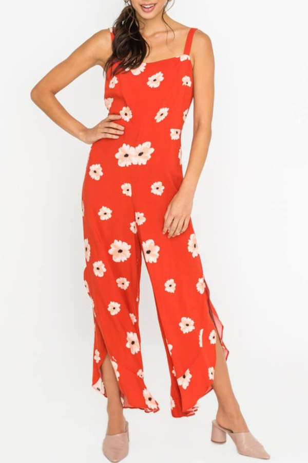 Lush Clothing Floral Print Jumpsuit