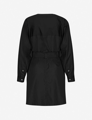 3.1 Phillip Lim Dolman-sleeved belted cotton mini shift dress