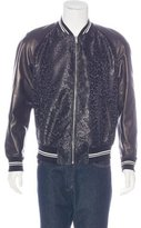 Alexander McQueen Leather-Trimmed Bomber Jacket w/ Tags