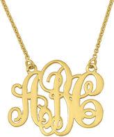 JCPenney FINE JEWELRY Personalized Swirl 20mm Monogram Necklace
