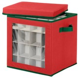 Whitmor Ornament Storage Cube - Red