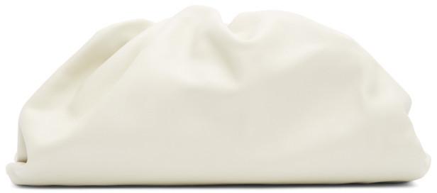 Bottega Veneta Off-White The Pouch Clutch