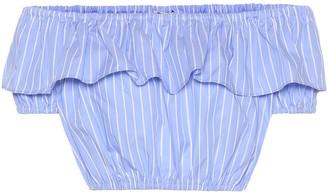 Miu Miu Striped cotton crop top