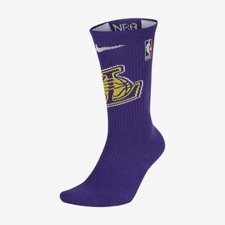 Nike NBA Crew Socks Los Angeles Lakers Elite