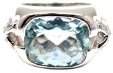 Tiffany & Co. 18K White Gold Aquamarine Diamond Ring