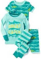 Old Navy 4-Piece Fish-Graphic Sleep Set for Toddler & Baby
