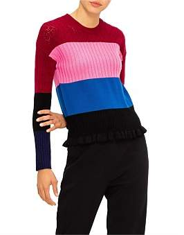 Kenzo Colorblock Stripes Pull Over