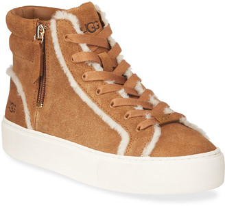 UGG Suede Plush High-Top Sneakers