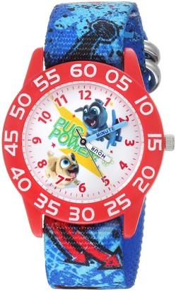 Disney Boys Puppy Dog Analog-Quartz Watch with Nylon Strap