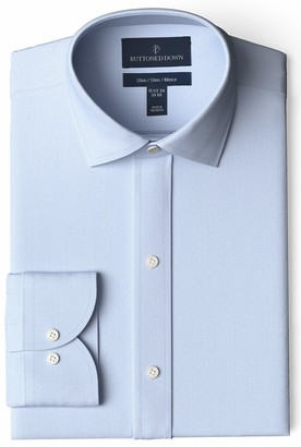 Buttoned Down Amazon Brand Men's Slim Fit Spread-Collar Pinpoint Non-Iron Dress Shirt