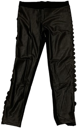 Fendi Black Polyester Trousers
