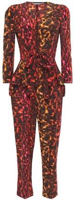 Stella McCartney Printed Silk Crepe De Chine Peplum Top