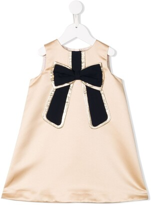 Hucklebones London bow sleeveless shift dress