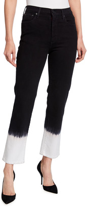 Alice + Olivia Jeans Stunning High Rise Straight Jeans