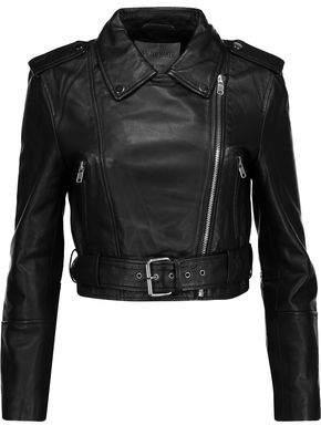 Walter W118 By Baker Shirley Cropped Leather Biker Jacket