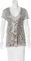 Tory Burch Sequin-Embellished T-Shirt