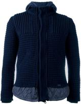 Bark knitted hooded jacket - men - Cotton/Polyamide/Polyester/Wool - XL