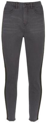 Mint Velvet Joliet Black Animal Side Jeans