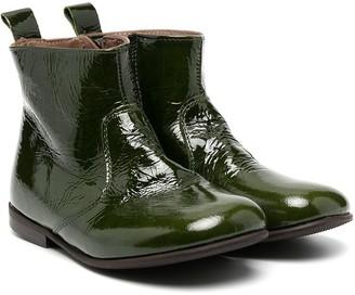 Pépé Patent Leather Ankle Boots
