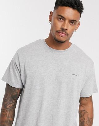 Night Addict oversized limited chest print t-shirt-Grey
