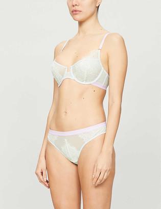 Dora Larsen Marlowe stretch-lace and mesh underwire bra