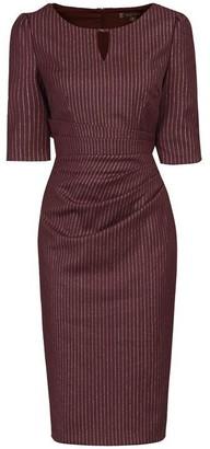 Jolie Moi Half Sleeve Striped Shift Dress