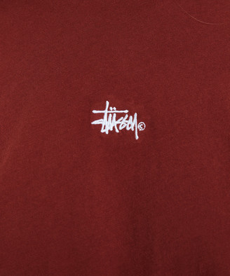 Stussy Graffiti Relaxed Top Red Brick