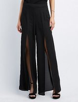 Charlotte Russe Split Wide-Leg Trousers