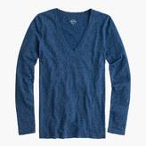 J.Crew Indigo vintage cotton long-sleeve V-neck T-shirt