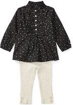 Ralph Lauren Floral-Print Shirt & Rib-Knit Leggings Set, Baby Girls (0-24 months)