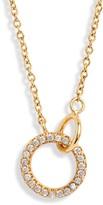 Gorjana Balboa Shimmer Interlocking Circle Pendant Necklace