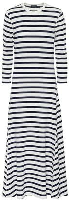Polo Ralph Lauren Striped cotton and modal midi dress
