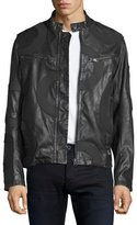 G Star G-Star Mower Rebel Faux-Leather Moto Jacket