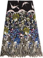 Valentino Embroidered Cotton Skirt