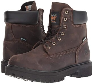 Timberland Direct Attach 6 Steel Toe (Brown Oiled Full-Grain Leather) Men's Work Lace-up Boots