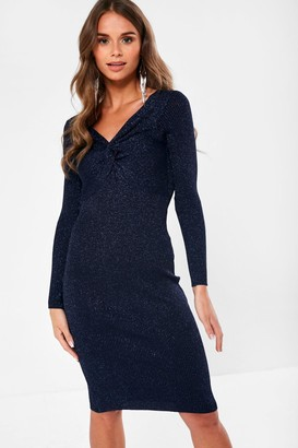 Milly Iclothing iClothing Bodycon Dress in Navy Metallic