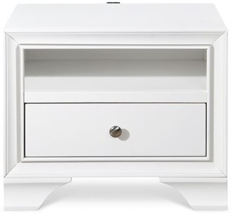 Winston Porter Wolfhard Click 1 Drawer Nightstand Color: White
