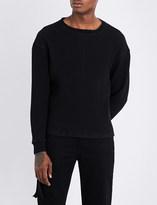 Unravel Oversized waffle-knit cotton jumper