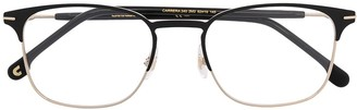 Carrera Brushed Stainless-Steel Square Glasses